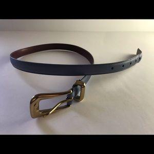 Periwinkle Blue Vintage Coach Belt